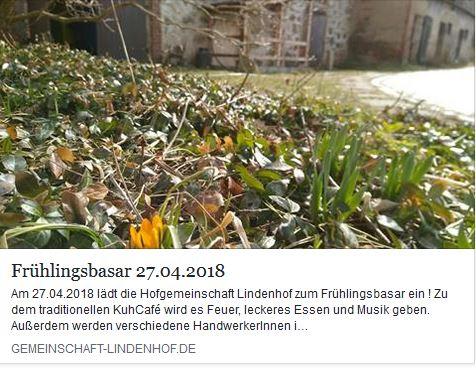 Frühlingsbasar auf dem Lindenhof