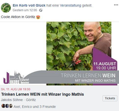 """Wein bei """"Jakobs Söhne"""" in Görlitz"""