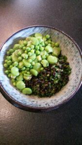 zartes Grün auf dem Teller