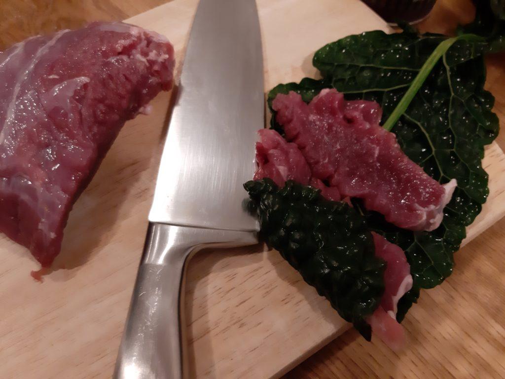 Schwarzkohl mit Ziegenfleisch