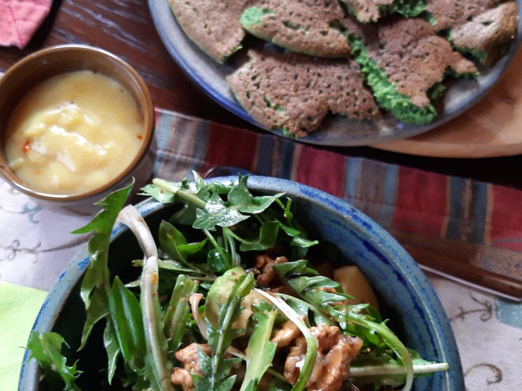 Grüne Kräuterpfannkuchen