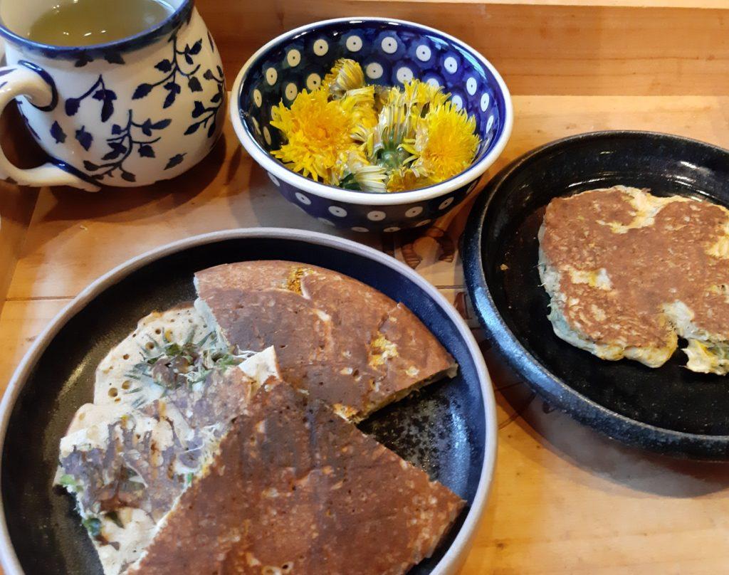 Löwenzahnblüten – Menü mit Tee