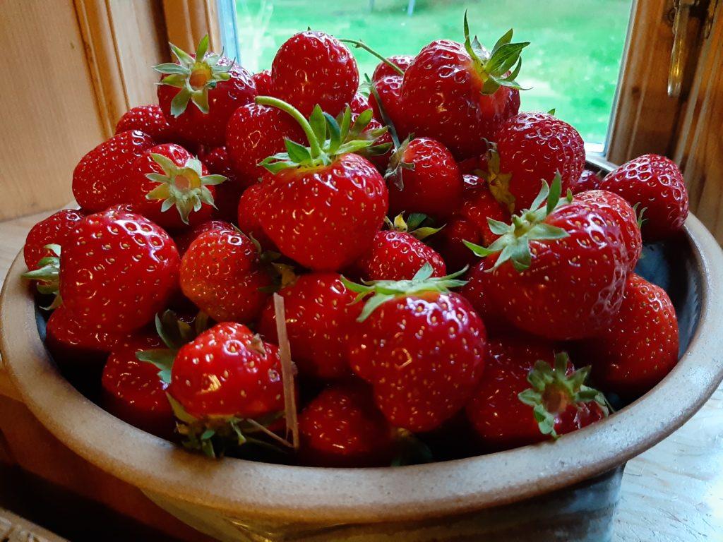 Erdbeersauce pur aus Fruchtreduktion