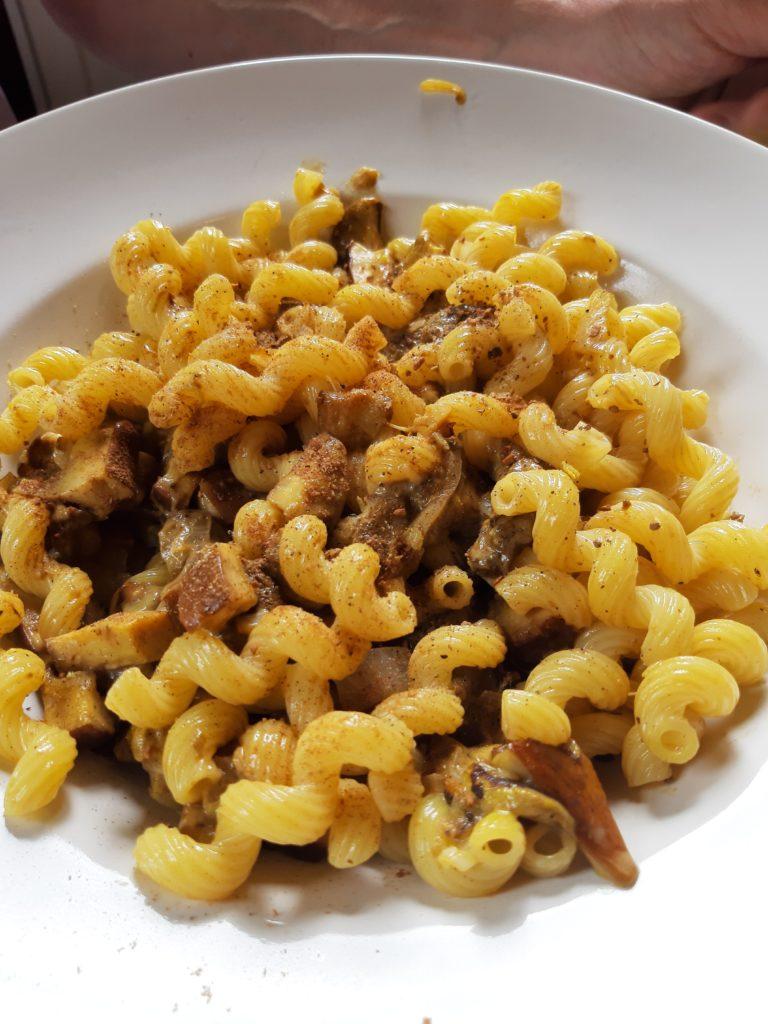 Pilz und Pasta